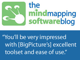 Rave Review for BigPicture from Mind Mapping Software Blog